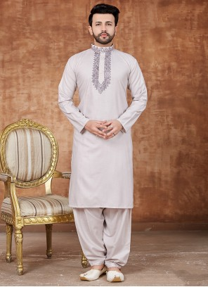Off White Reception Pathani Suits