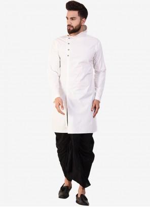 Off White Sangeet Cotton Dhoti Kurta