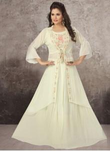 Off White Sangeet Readymade Lehenga Choli