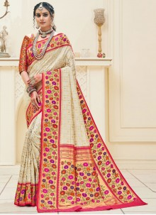 Off White Sangeet Traditional Designer Saree