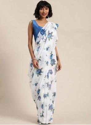 Off White Sequins Festival Classic Designer Saree