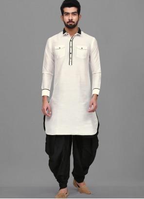 Off White Wedding Dhoti Kurta