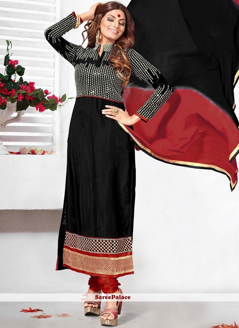 Opulent Lace Work Anarkali Salwar Kameez