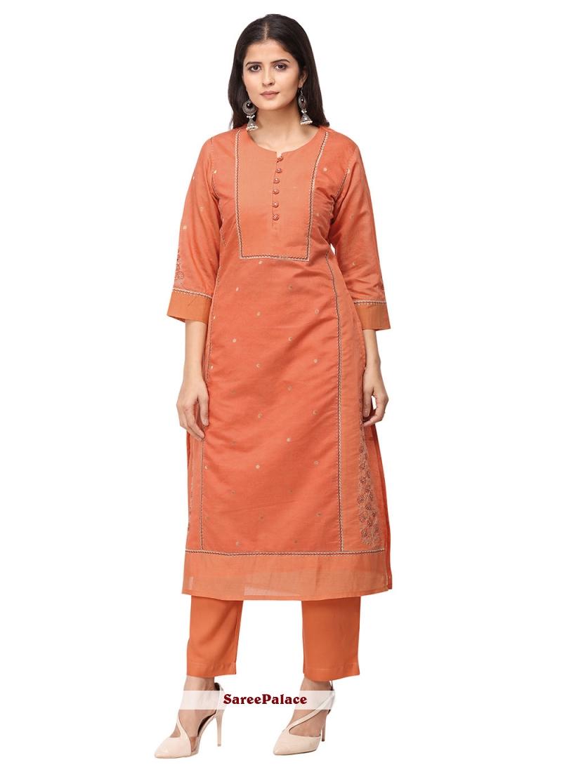 Orange Ceremonial Salwar Suit