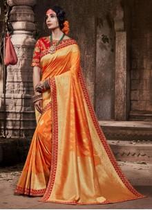 Orange Color Classic Saree