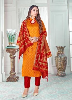 Orange Color Pant Style Suit