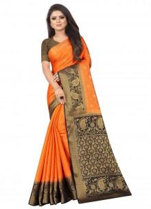 Orange Color Silk Saree