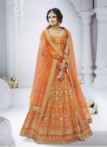 Orange Designer Lehenga Choli