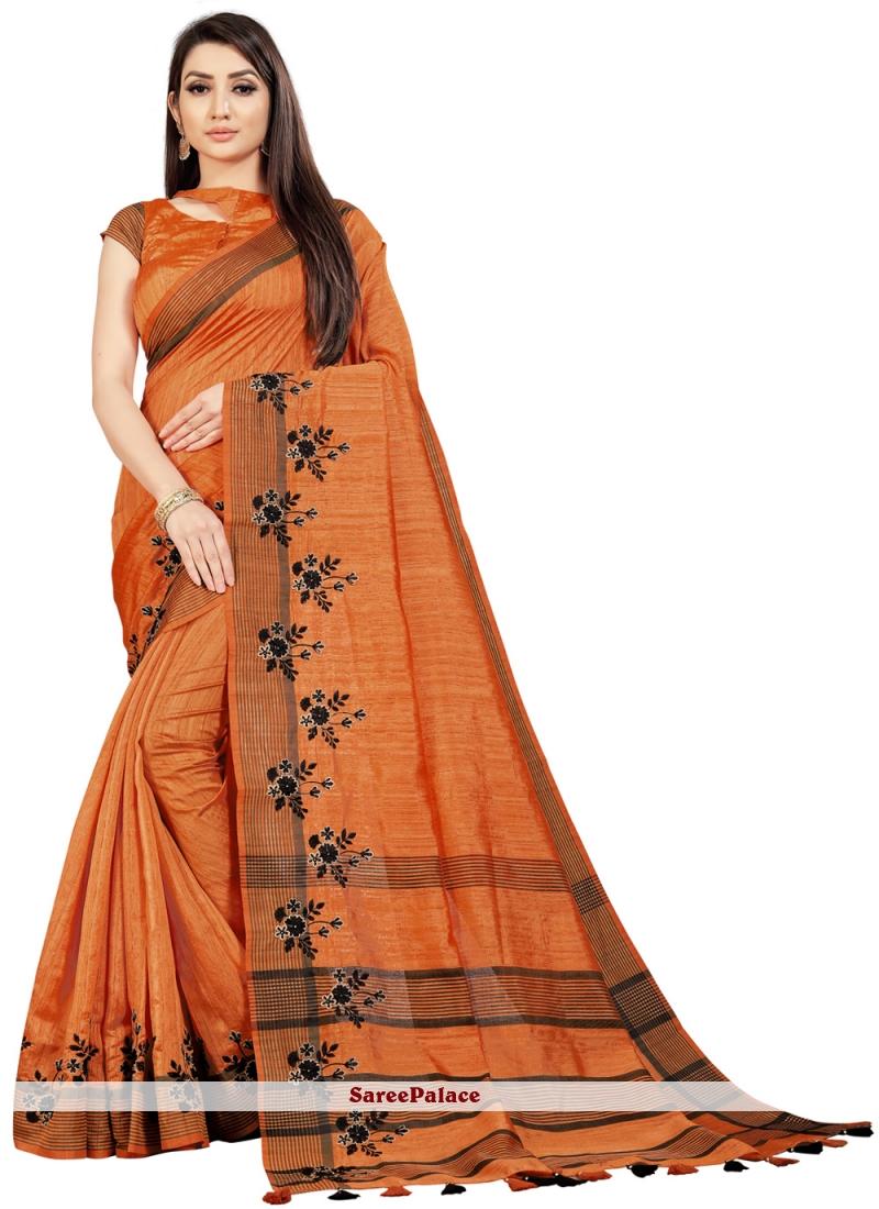 Orange Festival Classic Saree