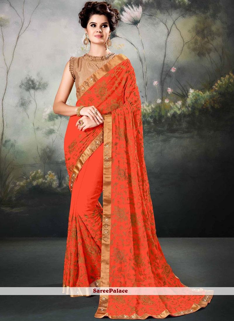 Orange Festival Saree