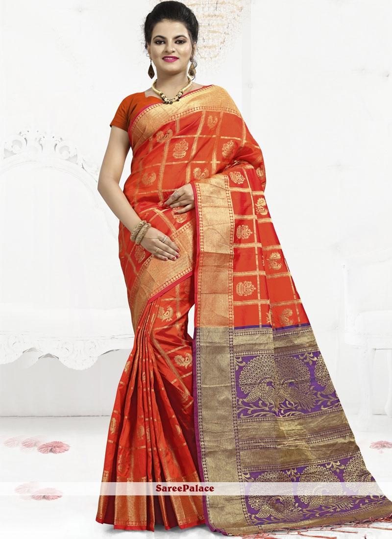 Orange Festival Trendy Saree