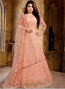 Orange Net Salwar Suit