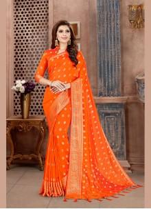 Orange Party Classic Saree