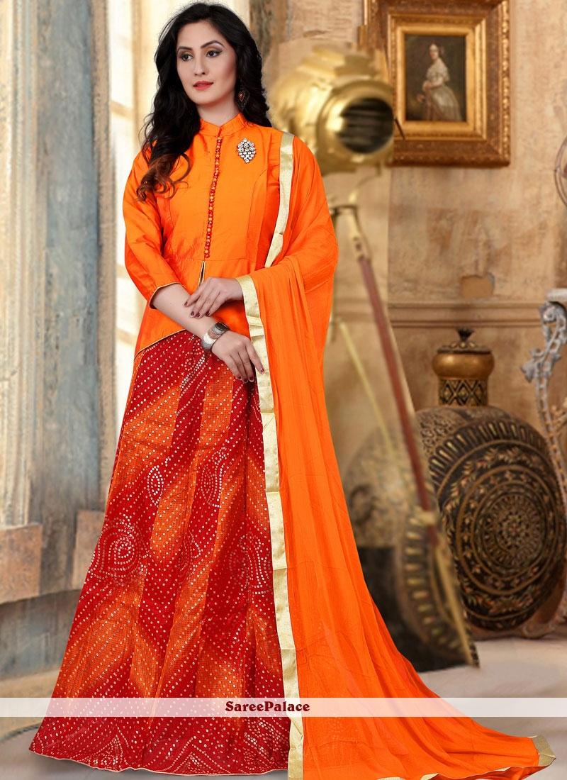 703dc0ee50 Buy Orange Readymade Lehenga Choli Online
