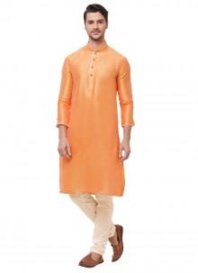 Orange Sangeet Kurta Pyjama