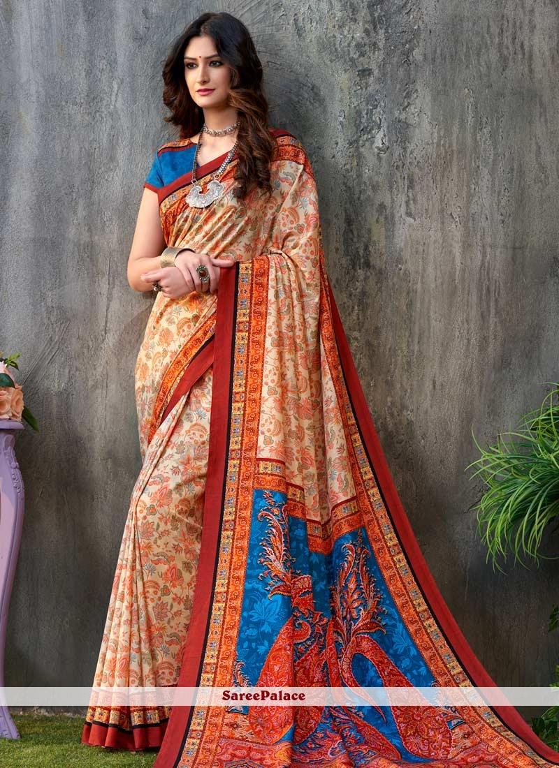 Orange Trendy Saree