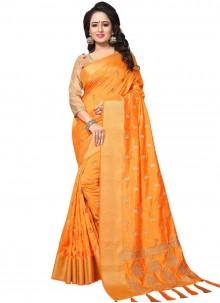 Orange Wedding Designer Traditional Saree