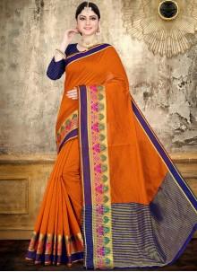 Orange Woven Classic Saree