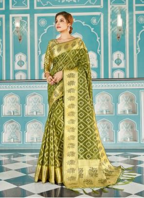 Organza Weaving Designer Traditional Saree