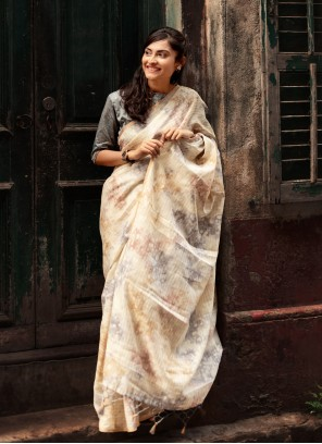 Organza Weaving Multi Colour Designer Traditional Saree