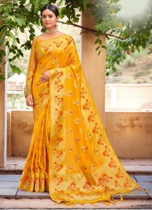 Organza Weaving Traditional Designer Saree