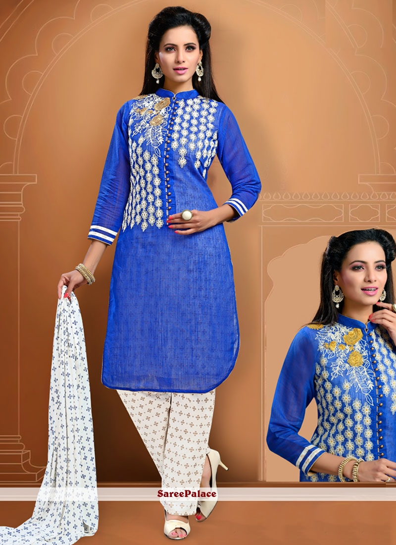 Orphic Embroidered Work Cotton   Readymade Suit