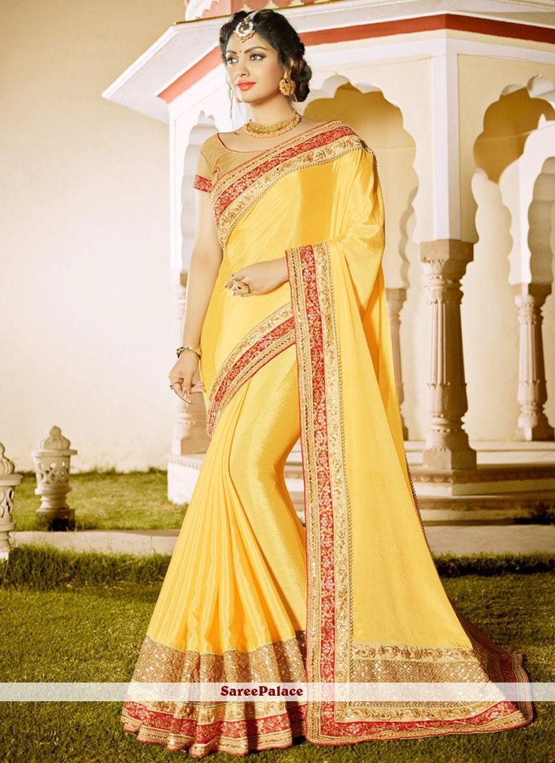 Outstanding Patch Border Work Classic Designer Saree