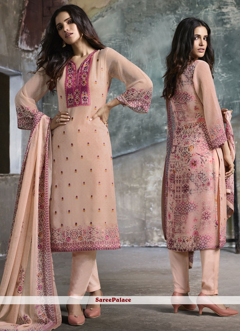 Pink Pant Style Suit For Festival