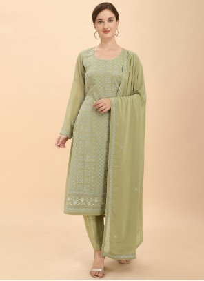 Green Pant Style Suit For Sangeet