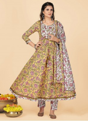 Yellow Party Wear Kurti For Casual
