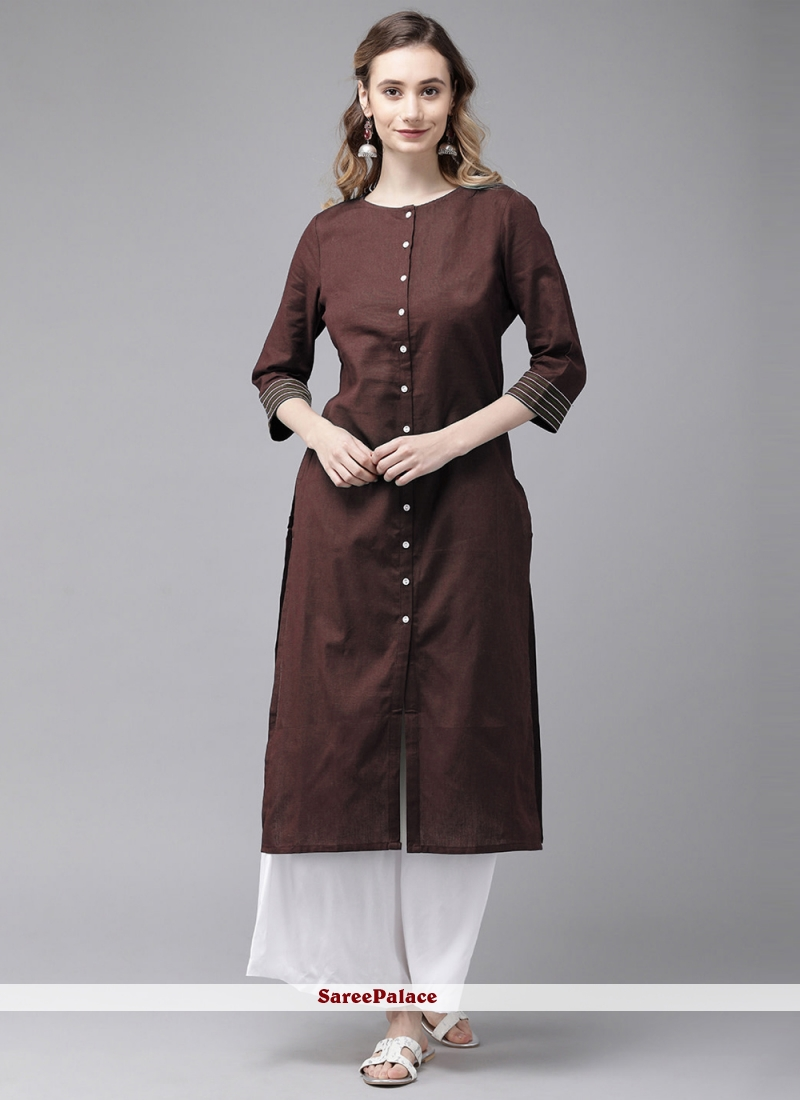 Brown Party Wear Kurti For Festival