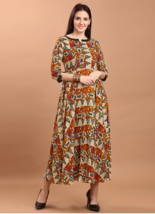 Multi Colour Party Wear Kurti For Festival