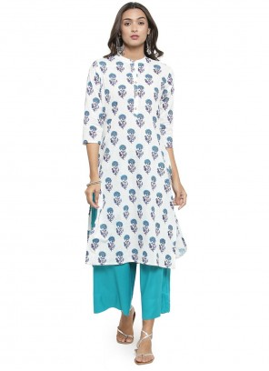 Off White Party Wear Kurti For Festival