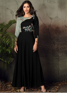 Black Party Wear Kurti For Party