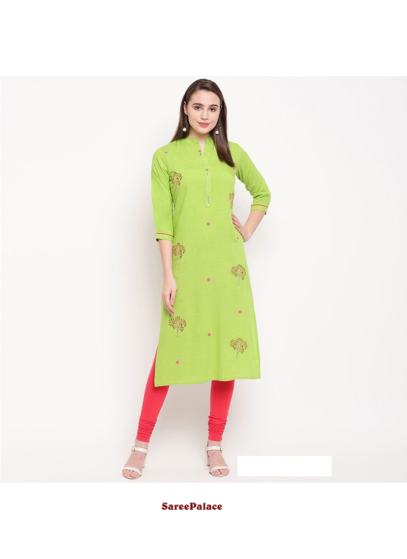 Green Kurti For Party