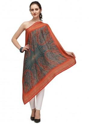Pashmina Digital Print Designer Dupatta in Multi Colour