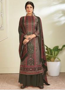 Pashmina Green Designer Pakistani Salwar Suit