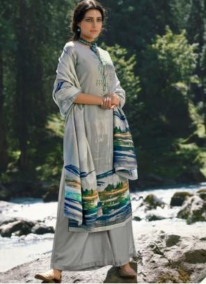 Pashmina Grey Designer Palazzo Suit