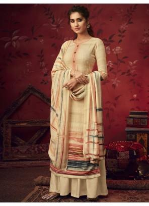 Pashmina Salwar Suit in Cream