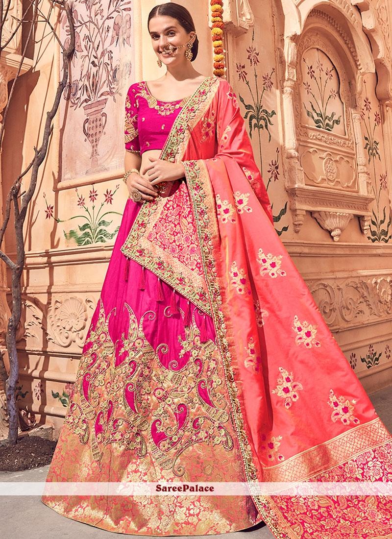 Patch Border Bridal Lehenga Choli
