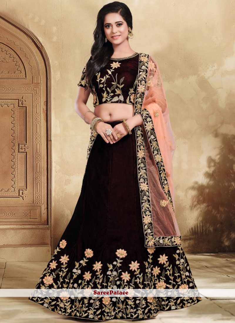 72bb5ebf81 Buy Patch Border Bridal Lehenga Choli Online