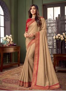 Patch Border Fancy Fabric Classic Designer Saree