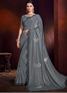 Patch Border Fancy Fabric Trendy Saree