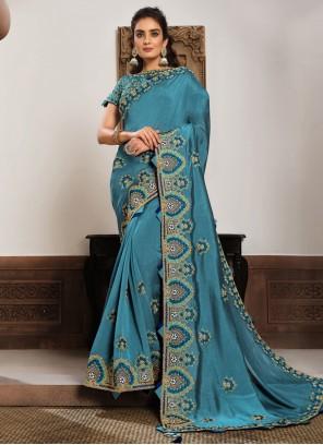 Patch Border Georgette Classic Designer Saree