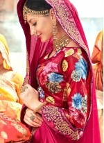 Patch Border Hot Pink Classic Designer Saree
