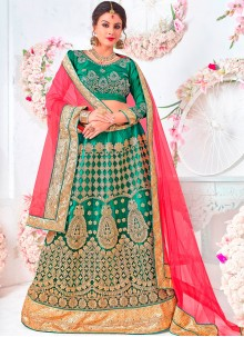 Patch Border Net Lehenga Choli