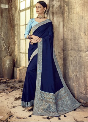 Patch Border Silk Designer Saree