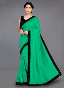 Patch Border Silk Green Traditional Saree