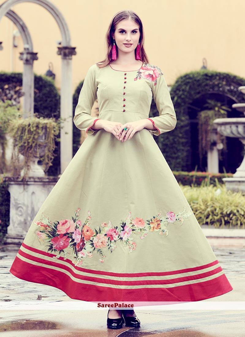 a0e34d3010c Buy Patchwork Green Art Silk Party Wear Kurti Online