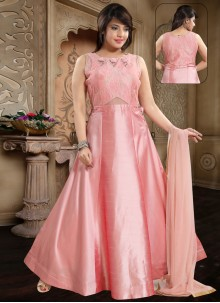 Peach Banglori Silk Party Salwar Kameez